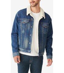lucky brand men's sherpa trucker jacket