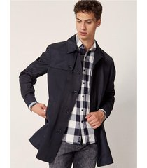 campera negra prototype nylon mac coat