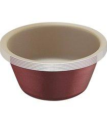 conjunto formas para cupcakes 6pã§s alumãnio brasil vermelho tramontina - vermelho - dafiti