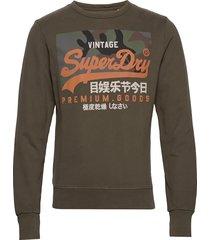 vl camo crew sweat-shirt trui groen superdry