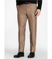 pantalón regent fit stretch wool beige brooks brothers