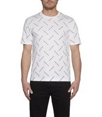 camiseta de algodón orgánico con logo en toda la prenda blanco calvin klein