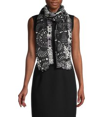abstract geometric cashmere scarf