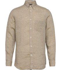 daniel bd-linen melange overhemd casual beige j. lindeberg