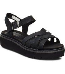 safari dawn multi-strap sandal shoes summer shoes flat sandals svart timberland