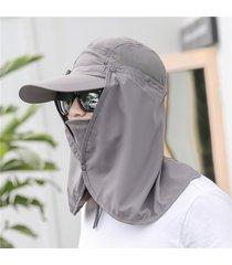 hombres mujeres sun face mosquitos protector sombrero gran ancho ala cuello