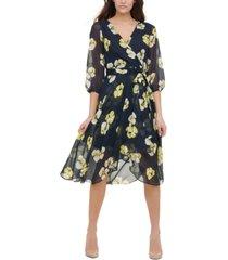 tommy hilfiger petunia floral midi dress