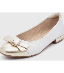 zapato plano blanco modare