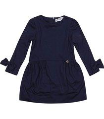 simonetta rear zip dress