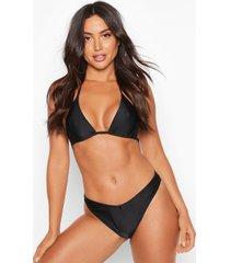 mix & match brazilian v front bikini brief, black