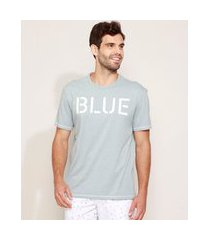 "camiseta masculina blue"" manga curta gola careca azul claro"""