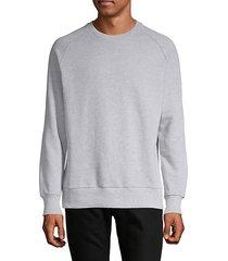 raglan-sleeve patch cotton sweatshirt