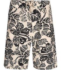 marni signature printed shorts