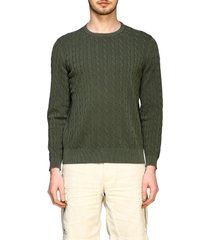 eleventy sweater eleventy platinum crewneck sweater in faded braided cotton