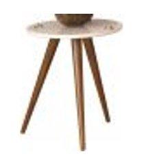 mesa lateral decorativa sofia b01 off white pés palito - lyam decor