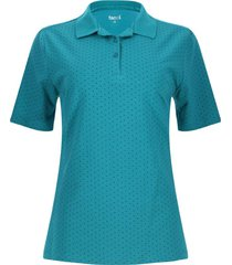 polo estampada cruces color verde, talla m