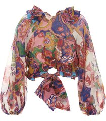 zimmermann the lovestruck tie bodice top