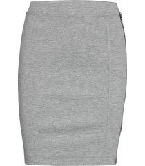 milano logo elastic skirt kort kjol grå calvin klein jeans