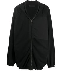 haider ackermann moletom oversized com patch e capuz - preto