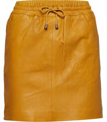 skirt with smock waist kort kjol gul depeche
