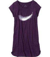 camicia da notte in cotone biologico (viola) - bpc bonprix collection