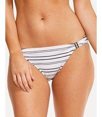 amalfi stripe textured bikini brief