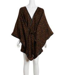 cejon belted leopard cape