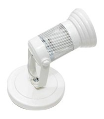 spot de sobrepor para 1 lâmpada com tela branco
