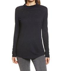 women's caslon funnel neck pullover, size x-small - black