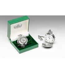 mullingar pewter shamrock pocket watch