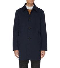 mid length shirt collar raincoat