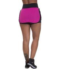 shorts saia mis blessed premium com dry fit feminino - feminino