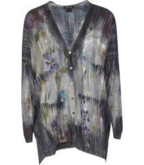 avant toi floral printed cardigan
