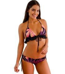 top triangular jessie de la rosa lingerie para mujer - multicolor