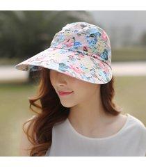 sombrero para mujer, femenino marea verano gran sol-rosa