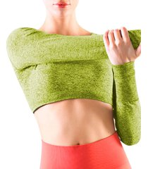 crop top jaspe verde pera