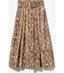 proenza schouler white label faux snakeskin belted skirt /multicolour 8