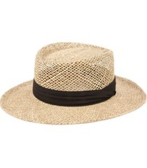 gambler straw hat with grosgrain band