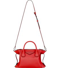 givenchy antigona soft small leather satchel - red
