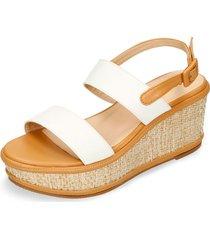 sandalias de plataforma blanco bata huln mujer