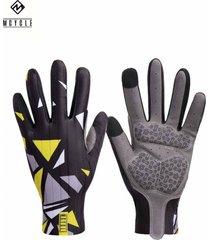 guante largo ms003 negro/amarillo mcycle