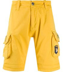 alpha industries side pocket shorts - yellow