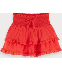 scotch & soda ruffled mini skirt keoni