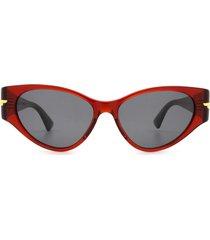 bottega veneta bottega veneta bv1002s burgundy sunglasses