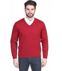 suéter  malhas g'dom gola v liso tomate