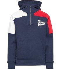 colorblock halfzip hoodie hoodie trui blauw tommy hilfiger