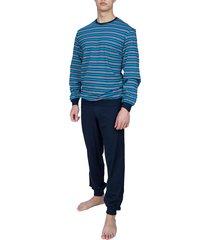 schiesser pyjama met boord streep
