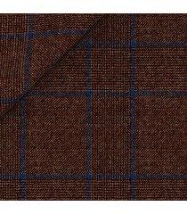 pantaloni da uomo su misura, drago, natural stretch marrone principe di galles, quattro stagioni | lanieri