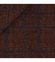 giacca da uomo su misura, drago, natural stretch marrone principe di galles, quattro stagioni | lanieri
