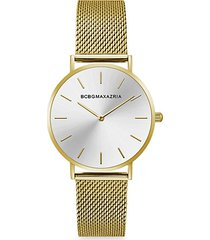 classic goldtone braided stainless steel bracelet watch
